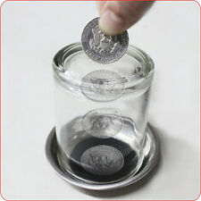 1PC Coin Penetrating Into Glass Party Magic Trick Set NoOYAL