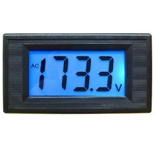 1Pcs AC 80-500V 2-wire 3 1/2  99 UK Blue LCD Panel Meter Voltage Power Supply