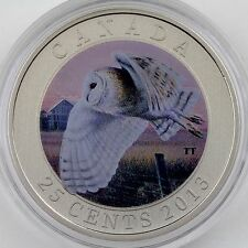 "2013 Barn Owl - 25-cent Colored Specimen Coin – ""Birds of Canada"" Series"