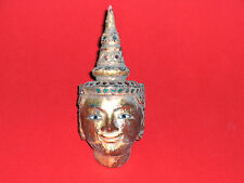 ANTIK ANTIQUE BURMA LACQUER HEAD OF STATUE FIGURE  SCULPTURE SKULPTUR ASIAN ART