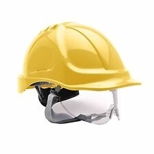 Portwest Endurance Visor Hard Hat Safety Helmet  YELLOW  Builders PW55