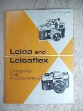 ORIGINAL 1968 E. LEITZ LEICA PHOTOGRAPHIC EQUIPMENT CATALOG NUMBER 41