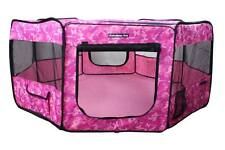 "37"" Portable Puppy Pet Dog Soft Tent Playpen Folding Crate Pen New - Pink Camo"