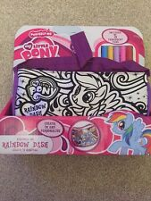 "NEW "" MY LITTLE PONY"" SCRIBBLE ME HANDBAG - PURPLE RAINBOW DASH"