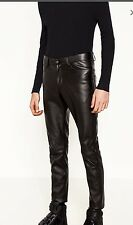 ZARA MAN SYNTHETIC LEATHER TROUSERSVWITH ZIPS PANTS SIZE 31