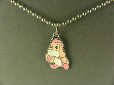 FUN AND WHIMSICAL EEYORE PINK CHARACTER CHARM NECKLACE