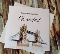 Personalised Birthday Card Husband Dad Grandad 40th 50th 60th 70th 80th 90th 100
