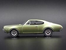 1969 OLDSMOBILE CUTLASS 442 GREEN RARE 1/64 LIMITED  DIECAST COLLECTIBLE MODEL