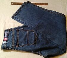 Step Son USA Men's Jeans Size 30 Baggy Fit Wide Leg Button Fly 100% Cotton