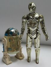Vintage Star Wars 1977- R2-D2 solid dome & C-3PO Action Figure lot Complete!