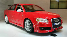 G LGB 1:24 Scale Red VW Audi A4 RS4 TDi TSI Burago Detailed Model 22104