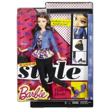 New BARBIE STYLE Glam 100+Poses Raquelle Doll W/Denim Jacket~Free Shipping
