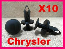 10 Chrysler engine undertray carriage fastener retainer clips