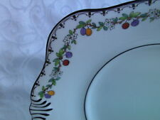 TUSCAN vintage Black Fruit Design China - Serving Plate or Cake Plate reduced!