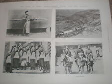 Printed photos characteristic civil and military scenes in China 1900