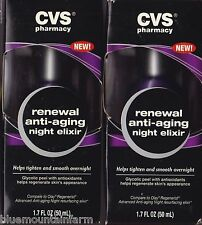 Lot of 2 CVS Renewal Anti-Aging Night Elixir Tighten&Smooth Overnight Glycolic