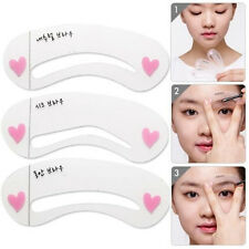 3 Style Eyebrow Grooming Stencil Kit Template Makeup Shaping Shaper DIY Tool