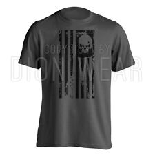 American Flag Skull Punisher Legend Sniper Military USA Army Shirt S M L XL 2XL