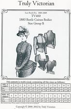 Schnittmuster Truly Victorian TV 460: 1885 Cuirass Bodice, Gr. B