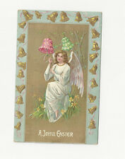 1909 Antique EASTER GREETING Postcard w/ 1 cent postage Mansfield, MASS