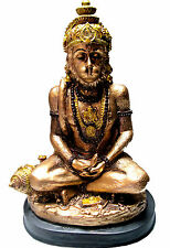 "HANUMAN STATUE 7.5"" Hindu Monkey God HIGH QUALITY Bronze Color Resin idol India"