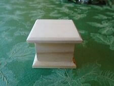 UNFINISHED SQUARE WOODEN BOX   CRAFT TRINKET JEWELRY RING USA MADE