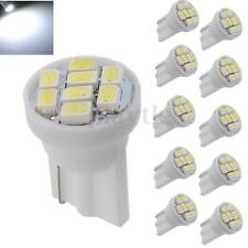 10x White T10 W5W 194 168 501 3020 SMD 8 LED Car Wedge Side Light Bulb Lamp 12V