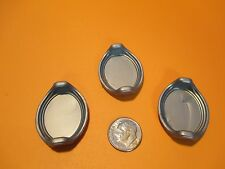 Playmobil kitchen SET OF 3 OVAL SILVER TRAYS