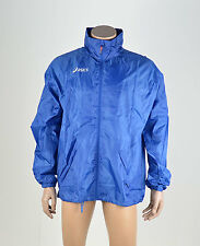 Asics Mens Running Water Resistant Hooded Lightweight Windbreaker Blue Size XL