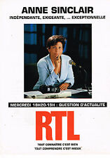 PUBLICITE ADVERTISING 124  1998  RTL radio  ANNE SINCLAIR