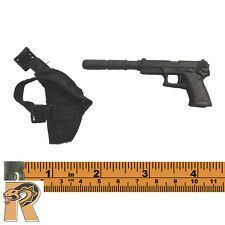 Navy SEAL Night Ops - Pistol w/ Silencer & Holster - 1/6 Scale - 21 Toys