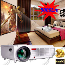 1080P 5000 Lumens LED96 Projector LED LCD Home Theater Cinema Multimedia HDMI 3D