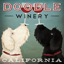 "LABRADOODLE DOG ART PRINT RETRO STYLE ADVERT POSTER ""Doodle Winery California"""