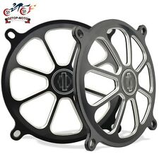 """5"""" Speaker Grills Cover For Harley Touring GLIDE Black Motorcycle parts CNC New"""