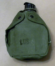 Vintage 1976 US ARMY Military 1 Qt. Plastic Canteen With Canvas Cover NICE
