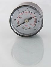 Air Pressure Gauge 1/8 bsp Rear Entry 40mm dial 0-15psi-1 bar Max           618x