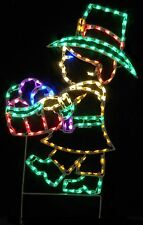 Thanksgiving Pilgrim Boy Holiday Outdoor LED Lighted Decoration Steel Wireframe