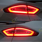 Full Set 3D L.E.D Tail Lights For Mondeo Fusion Clear Red Rear lamps Len 2013-up