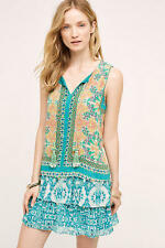 NWT Anthropologie Moana Silk Dress by Hemant and Nandita Size XL (Orig. $228)