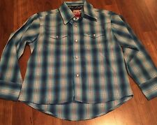 George Strait Boys Wrangler Cowboy Cut Collection  BUTTON FRONT Shirt Small