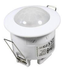 2x Détecteur de mouvements Encastré au plafond 360° à 6m 10sec 7min LED