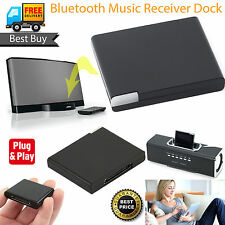 NUOVO 30 Pin Wireless BLUETOOTH MUSICA AUDIO RICEVITORE ADATTATORE PER IPHONE IPOD IPAD