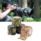 Camouflage Elastic Waterproof Outdoor Hunt Camping Stealth Camo Wrap Tape O#