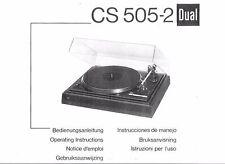 Dual Bedienungsanleitung für CS 505-2