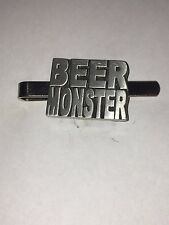 Beer Monster C4 Fine English Modern Pewter on a Tie Clip (slide)
