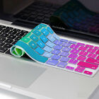 "Silicone Chic Rainbow Keyboard Skin Cover For Apple Macbook Air Mac 13""15""17"" US"