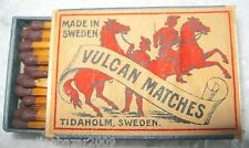 VULCAN MATCHES - SAFETY MATCHES, TIDAHOLM, MADE IN SWEDEN