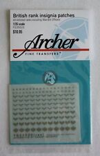 Archer 1/35 British Rank Insignia Uniform Patches WWII (100+ patches) FG35020