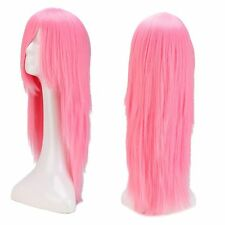 Women Ladies Long Curly Wavy Wig Cosplay Costume Synthetic Hair Wigs Black Red #