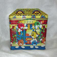 """1996 M&M's CANDY LTD. ED. CHRISTMAS VILLAGE SERIES #3 """"TOY SHOP"""" TIN CANISTER"""